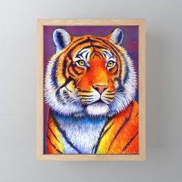 Fiery Beauty - Colorful Bengal Tiger Framed Mini Art Print