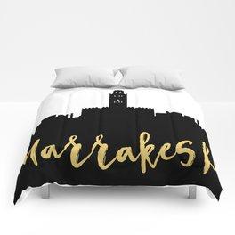 MARRAKESH MOROCCO DESIGNER SILHOUETTE SKYLINE ART Comforters