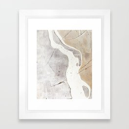 Feels: a neutral, textured, abstract piece in whites by Alyssa Hamilton Art Framed Art Print