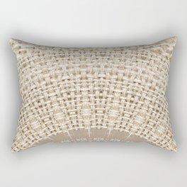 Unique Texture Taupe Burlap Mandala Design Rectangular Pillow