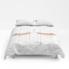 Rose gold marble lash envy Comforters