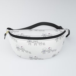 Skeleton Family Man Woman Cat Dog Fanny Pack