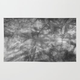 Black and White Tie Dye Rug