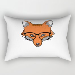 Smart Fox With Glasses Fox Lover Gift Rectangular Pillow