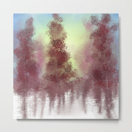 Morning Woods Metal Print