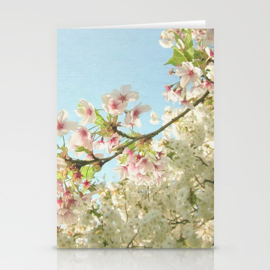 Pink on White Stationery Cards