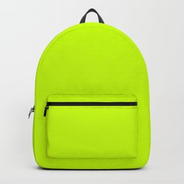 Bright green lime neon color Rucksack