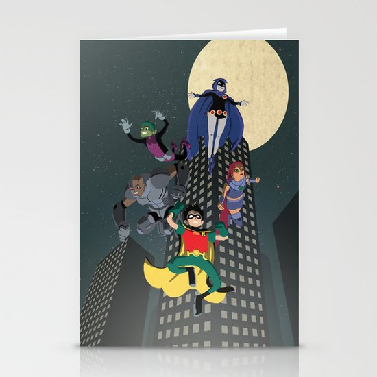 Teen Titans Stationery Cards