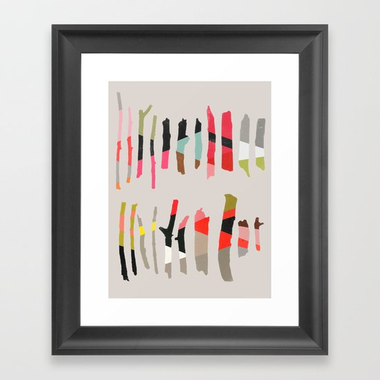 painted twigs 1 Framed Art Print