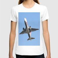 airplanes T-shirts featuring ABX Air Boeing 767-232(BDSF) Miami Take-off Florida Airplanes  by Yan David