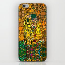 If Klimt The Kiss was painted with bubbles  iPhone Skin