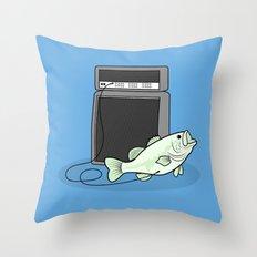 I PLAY BASS Throw Pillow