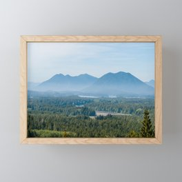 Misty Valley in Tofino - BC, Canada Framed Mini Art Print