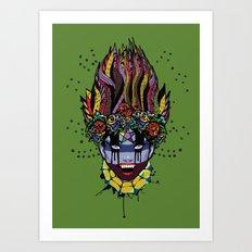 Mystical Feg the Vampire Priestess  Art Print