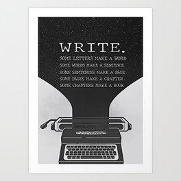 Writer Writers Write Art Print