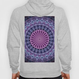 Pretty mandala in blue and violet tones Hoody