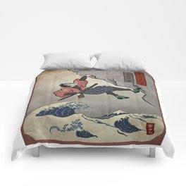 Rock Climbing Samurai Deep Water Soloing Comforters