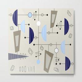 Mid-Century Modern Atomic Era Metal Print
