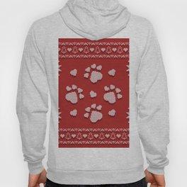 Dog Paws Christmas - Sweater Weather Isle Hoody