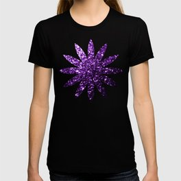 Beautiful Dark Purple glitter sparkles T-shirt