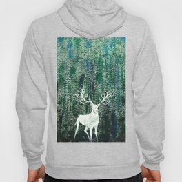 Christmas Stag handpainted for festival Hoody