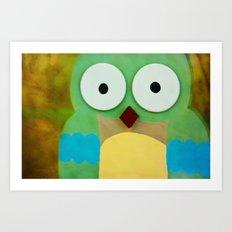 whoo? Art Print