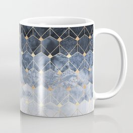 Blue Hexagons And Diamonds Coffee Mug