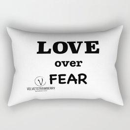 LOVE over Fear Rectangular Pillow
