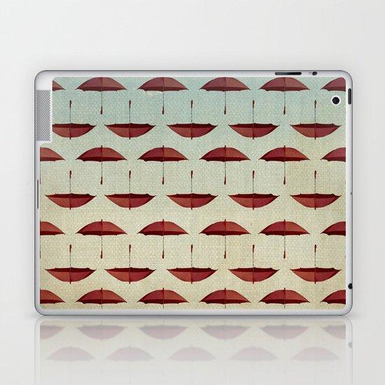raining umbrellas pattern Laptop & iPad Skin