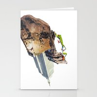 climbing Stationery Cards featuring Climbing by Lerson