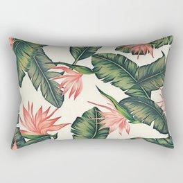 Palm Leaf & Flower Print Rectangular Pillow