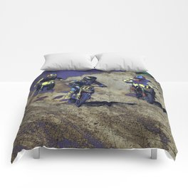 The Home Stretch - Motocross Racers Comforters
