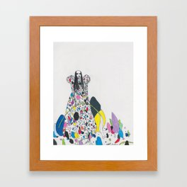 Untitled Queen Wearing Paper Betty Rubble Dress Framed Art Print