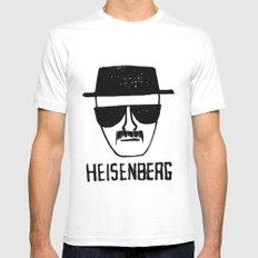 Heisenberg - Breaking Bad Sketch Mens Fitted Tee MEDIUM White