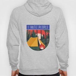 Camping hermit eremite freedom nature silence camp Hoody