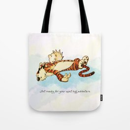 Calvin Rests for Big Adventure Tote Bag