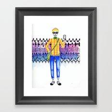 Hipster Death Framed Art Print