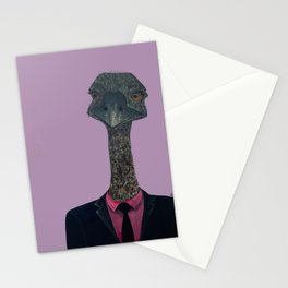 Ostrich In Suit    Stationery Cards