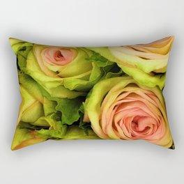 Green & Pink Bouquet Rectangular Pillow