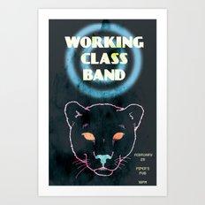 Working Class Panther, gig poster Art Print