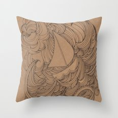 Little Ship Throw Pillow