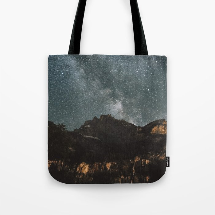 Space Night Mountains - Landscape Photography Tote Bag