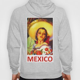 Vintage Mexico Travel Poster Hoody