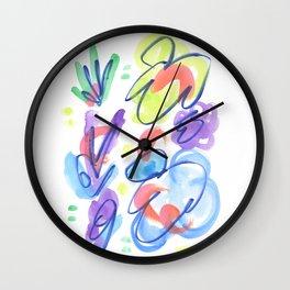 Kaleidoscope of Wildflowers Wall Clock