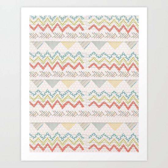 Summer Scraps Art Print