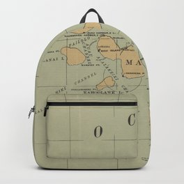 Vintage Lighthouse Map of Hawaii (1898) Backpack