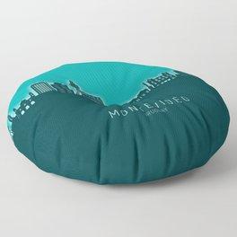 Montevideo Skyline Uruguay Floor Pillow