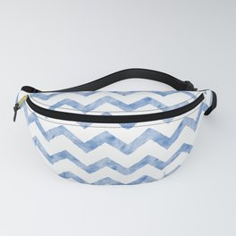 Chevron Light Blue And White Fanny Pack
