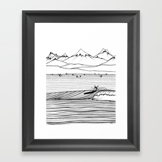 The NORTH Shore Framed Art Print