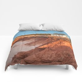 Thunder Cove Beach Cliffs Comforters